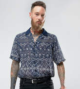 Reclaimed Vintage Inspired Revere Shirt With Geo Print With Short Sleeve Reg Fit