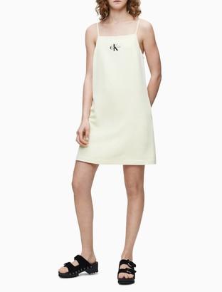 Calvin Klein Monogram Logo Slip Dress