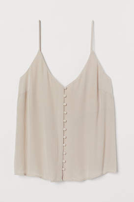 H&M V-neck top with buttons