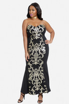 Fashion to Figure Diana Scroll Print Maxi Dress