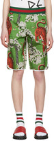 Gucci Green Bengal Swim Shorts