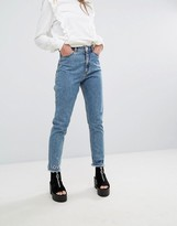 Monki Love Life Logo Mom Jeans