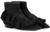 J.W.Anderson Ruffle suede ankle boots