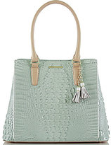 Brahmin Tri-Texture Collection Joan Tasseled Tote