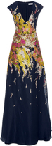 Pamella Roland Multi Metallic Fils-Coupe Gown