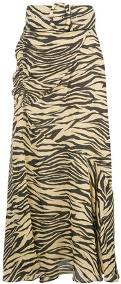 Nicholas zebra print skirt