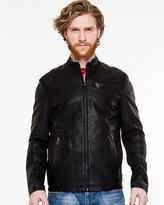 Le Château Leather-Like Bomber Jacket