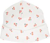 Oeuf Cherry-Print Hat-WHITE