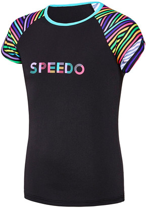 Speedo Girls Multi Lines Rash Vest
