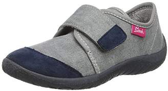 Beck Unisex Kids' Basic Cold lined low house shoes,Grey - Grau (24)