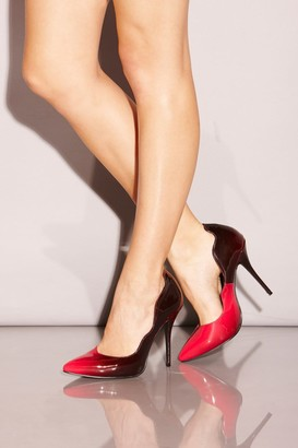 Little Mistress Raspberry Fade Effect Pointed Court Shoes