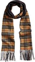 Burberry double faced checked scarf