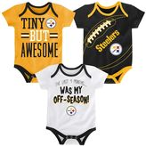 Baby Pittsburgh Steelers 3-Piece Bodysuit Set