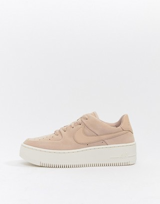 Nike Force 1 Sage trainers in pink