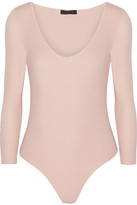 ATM Anthony Thomas Melillo Ribbed Stretch Micro Modal Bodysuit - Pastel pink