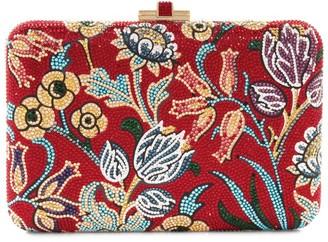 Judith Leiber Slim Slide Floral Filigree Clutch Bag