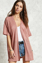 Forever 21 FOREVER 21+ Open-Front Batwing Cardigan
