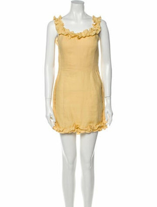 Reformation Linen Mini Dress Yellow