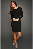 Susana Monaco Cowl Back Dress (Black) - Apparel