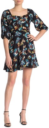 Angie Floral Puff Sleeve Dress
