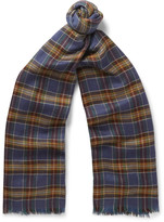 Loro Piana - Checked Cashmere And Silk-blend Scarf