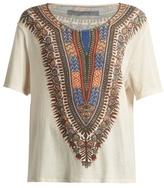 Raquel Allegra Tribal-print cotton T-shirt