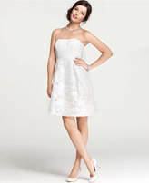 Ann Taylor Embroidered Lace Strapless Dress