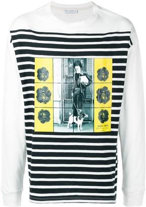 J.W.Anderson Gilbert & George transfer print long sleeve T-shirt