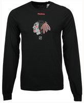 Reebok Men's Chicago Blackhawks Logo Reflect Long Sleeve T-Shirt