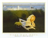 iSi Cape Cod Soul by Marcia Joy Duggan 20x16 Photograph Art Print Poster Cape Cod Adirondack Chair Yellow Daisies Sun Hat Tall Grass Restful Vacation