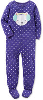 Carter's 1-Pc. Dot-Print Mouse Footed Pajamas, Little Girls (2-6X) & Big Girls (7-16)