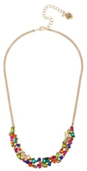Betsey Johnson Butterfly Stone Cluster Necklace