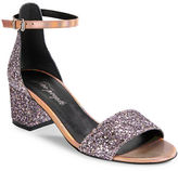 Free People Marigold Open-Toe Glitter Sandals