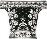 Alexander McQueen floral jacquard off-shoulder top - women - Polyamide/Polyester/Spandex/Elastane/Viscose - S