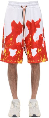 Ihs Printed Cotton Shorts