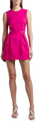 Versace Buttoned Sleeveless Mini Dress