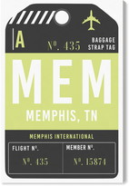 Oliver Gal Memphis Luggage Tag Wall Art