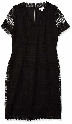 Calvin Klein Women's Short Lace Sleeve Dress