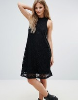 Noisy May Lace Sleeveless Swing Dress