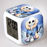 Enjoy Life : Cute Digital Multifunctional Alarm Clock With Glowing Led Lights and stickered Undertale , Good Gift For Your Kids , Comes With Bonuses. Part 1 (06)
