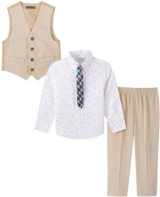 Van Heusen Toddler Boy 4-Piece Heather Poplin Vest Set