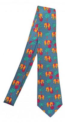 Hermes Turquoise Silk Ties