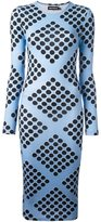 House of Holland diamond print spotted dress