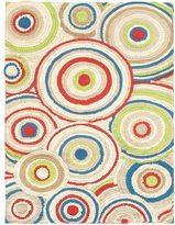 Ecarpetgallery Eternity Bold Ivory/Red Wool Handmade Rug (5'6 x 7'9)