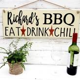 Potting Shed Designs Personalised Bbq, Braai Or Bar Sign For Garden