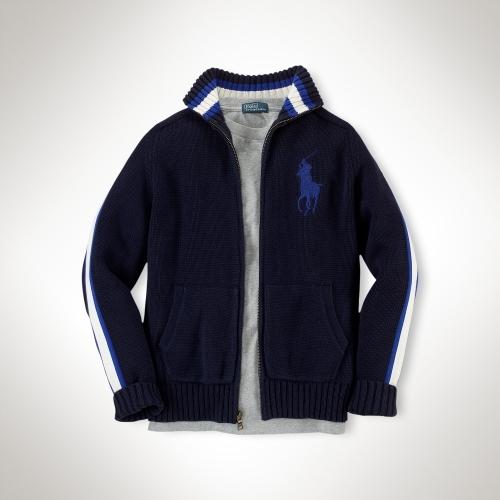 Big Pony Full-Zip Sweater