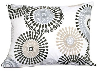 Winston Porter Seng Cotton Lumbar Pillow Cover & Insert Color: White/Gray