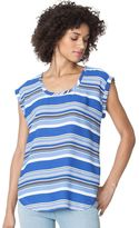 Chaps Women's Striped Georgette Top