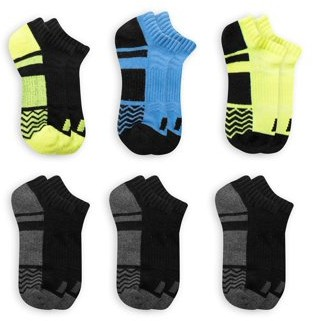 Russell Active Boys No Show Socks 6 Pack Socks