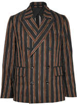 Golden Goose Deluxe Brand Virna Striped Alpaca-blend Jacquard Blazer - Brown